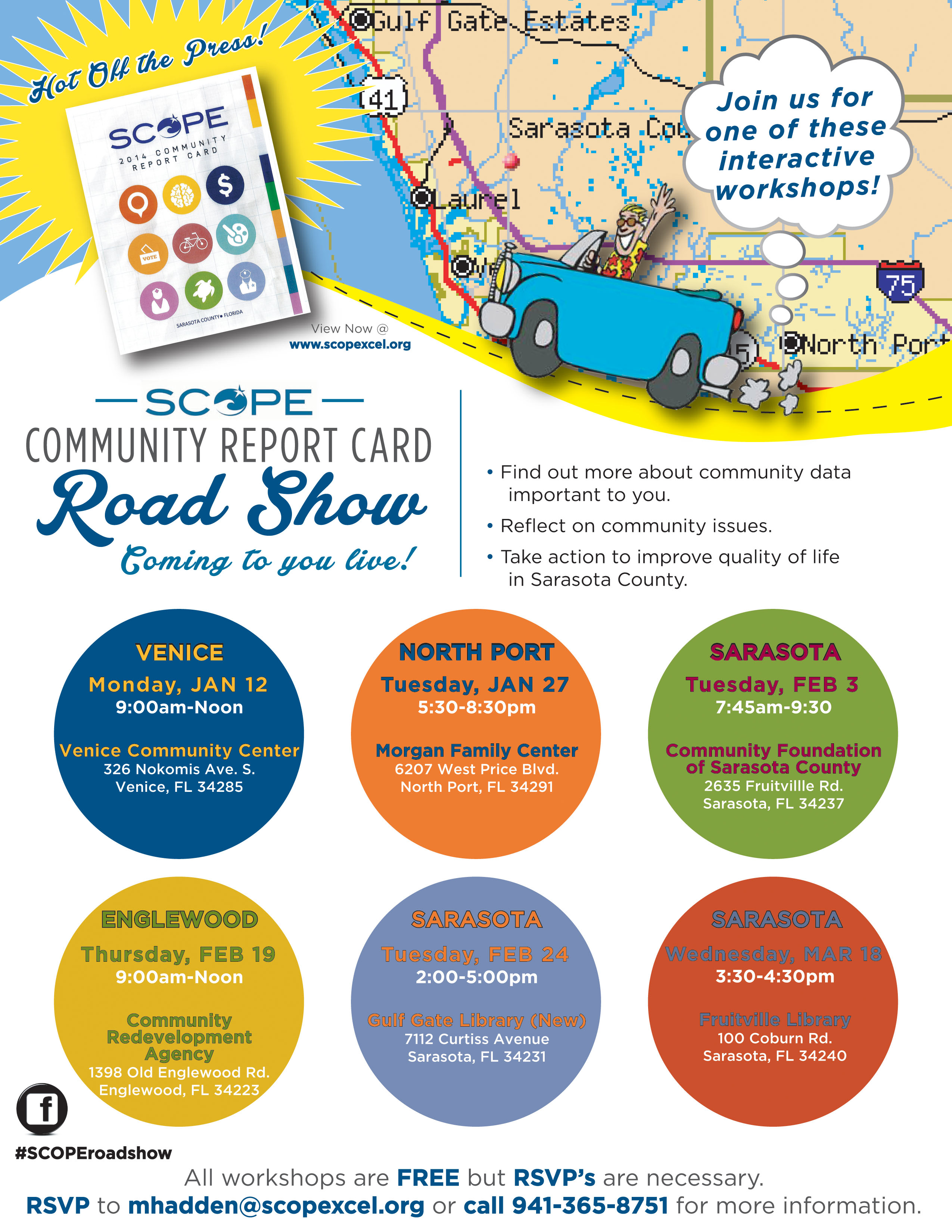 Road Show flyer